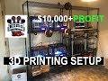 BEST LOW BUDGET 3D PRINTING MICROFACTORY! SIDE BUSINESS! 6+ PRINTERS!