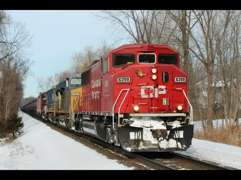 Winter New Jersey Railfanning featuring Illinois Central, TFM, KCS, a CP SD90MAC and TONS More