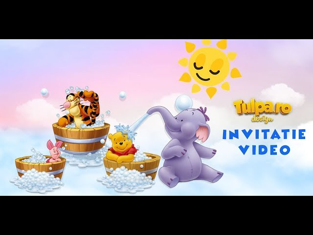 Invitaţie Video Pentru Botez Cu Winnie The Pooh Tulparo Youtube