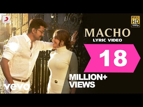 Mersal - Macho Tamil Lyric Video | Vijay, Kajal Aggarwal | A