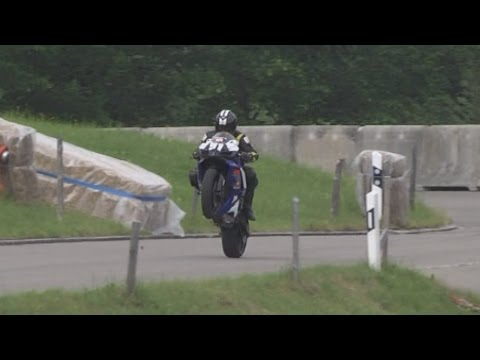 Very fast modern Motorbike and a couple of nice historic at Showblock Bergrennen Hemberg 2014