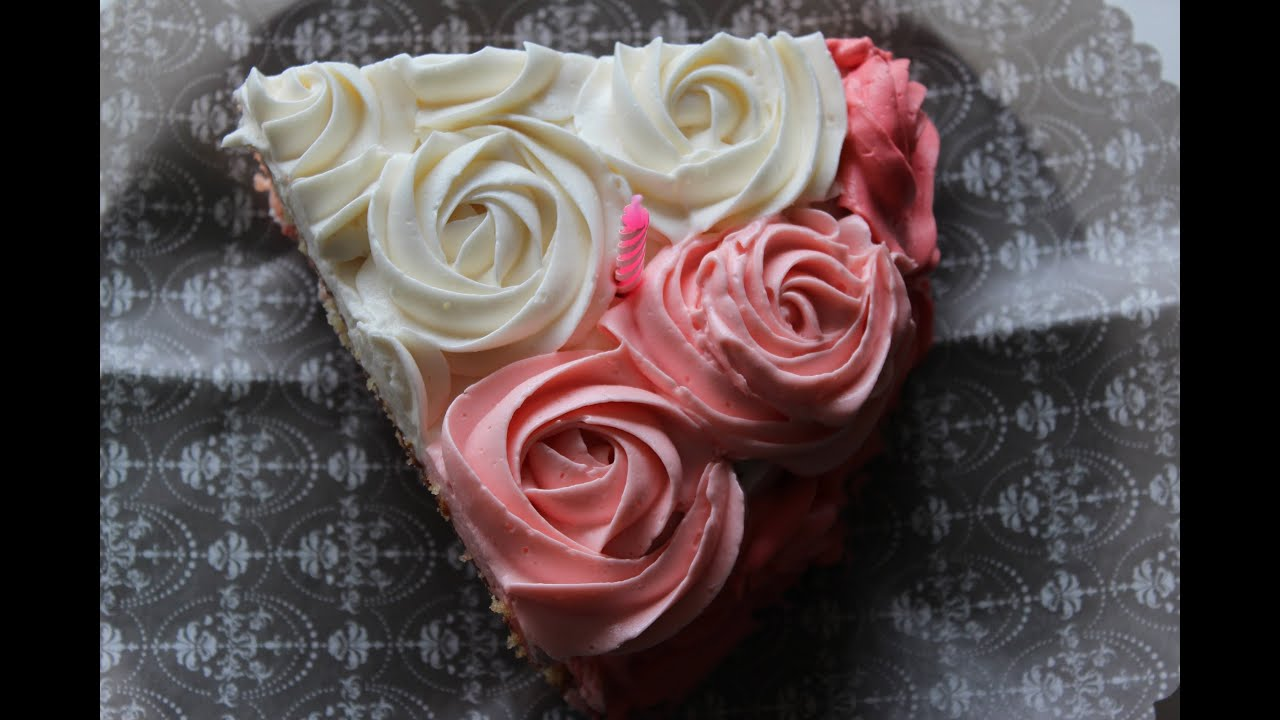 How To Piping Roses Youtube