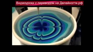 Водный маникюр - видео-урок по дизайну ногтей