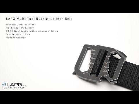 LA Police Gear - Multi-Tool Buckle 1.5 Inch Belt