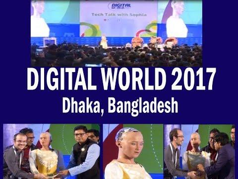 Digital World 2017 in Dhaka, Conversation with Robot Sophia