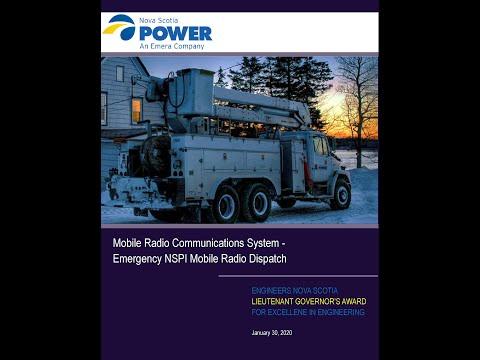 Nova Scotia Power Inc - Mobile Radio Communications System