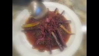 Red Carrots Stuffing With Tamarind Sauce- حشوة جزر أحمر بالتمر الهندي