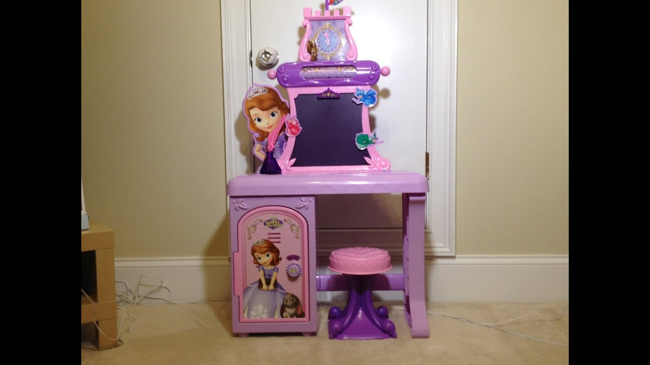 Unboxing Sofia The First Royal Prep Talking School Desk