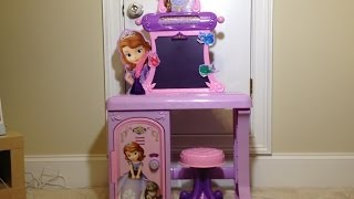 Disney Junior Sofia The First Royal Prep Talking School Desk Disney Sofia Desk Toy Review