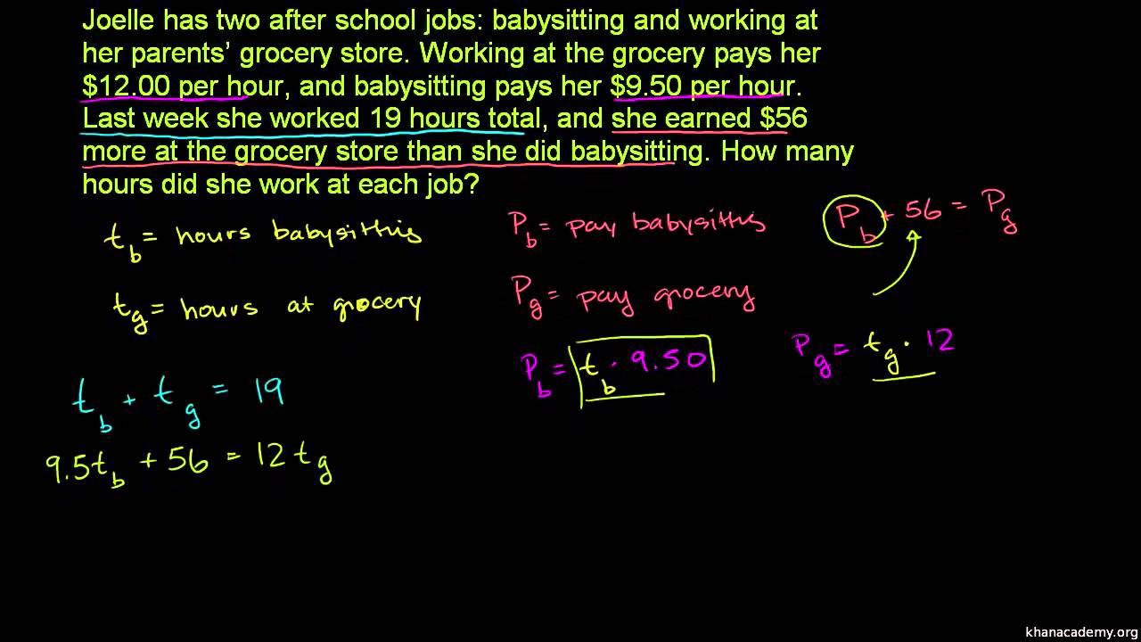 Opgaver med hastighed og ligningssystemer 2