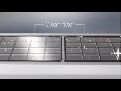 Hitachi's Clean air – Auto Filter Clean Technology (iClean+) video