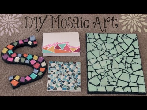 Diy Mosaic Art Socraftastic Youtube