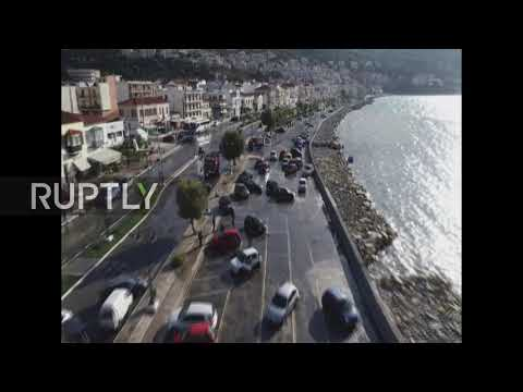 Greece: Locals caught in flash flooding on Samos island after Aegean earthquake