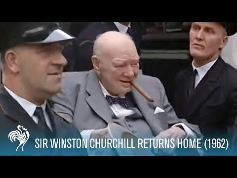 Sir Winston Churchill Returns Home from Hospital (1955) | British Pathé