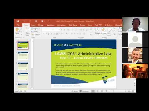 Australian Administrative Law: Judicial Review Remedies (Tutorial)