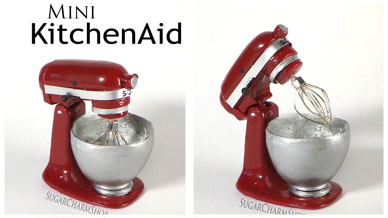 Miniature KitchenAid / Stand Mixer - Polymer Clay Tutorial - YouTube