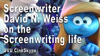 Gambar cover Screenwriter David N. Weiss (Smurfs, Smurfs 2, Shrek 2) on the Screenwriting life (UVU Cineskype)