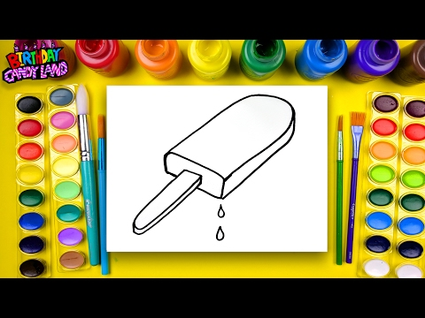 Coloring for Children to Learn to Color and Draw and Paint this Rainbow Popsicle Coloring Page 💜