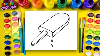 Coloring for Children to Learn to Color and Draw and Paint this Rainbow Popsicle Coloring Page 💜4k