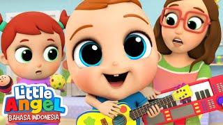 Belajar Main Gitar dan Terompet Yuk! 🎸 Lagu Anak Belajar Musik | Little Angel Bahasa Indonesia