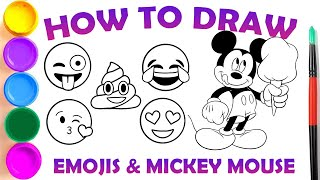 How to Draw Emojis and Mickey Mouse