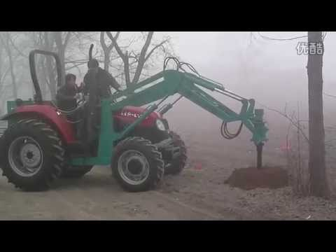 planting/ electricity pole holes auger drilling machine mounted tractor
