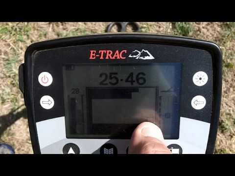 Minelab Etrac with 6x8 coil at a local park 8-19-12
