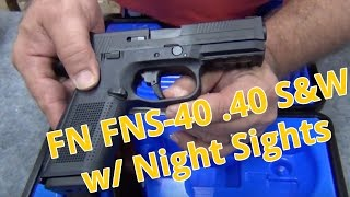 BLOWOUT: FN FNS-40 .40 S&W With Night Sights