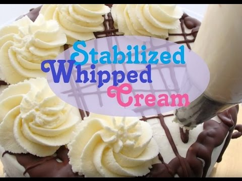 Stabilized Whipped Cream Icing For Cakes