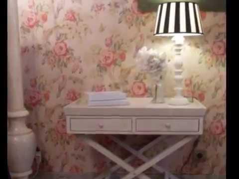 Papel pintado flores youtube - Papel pintado salon ...