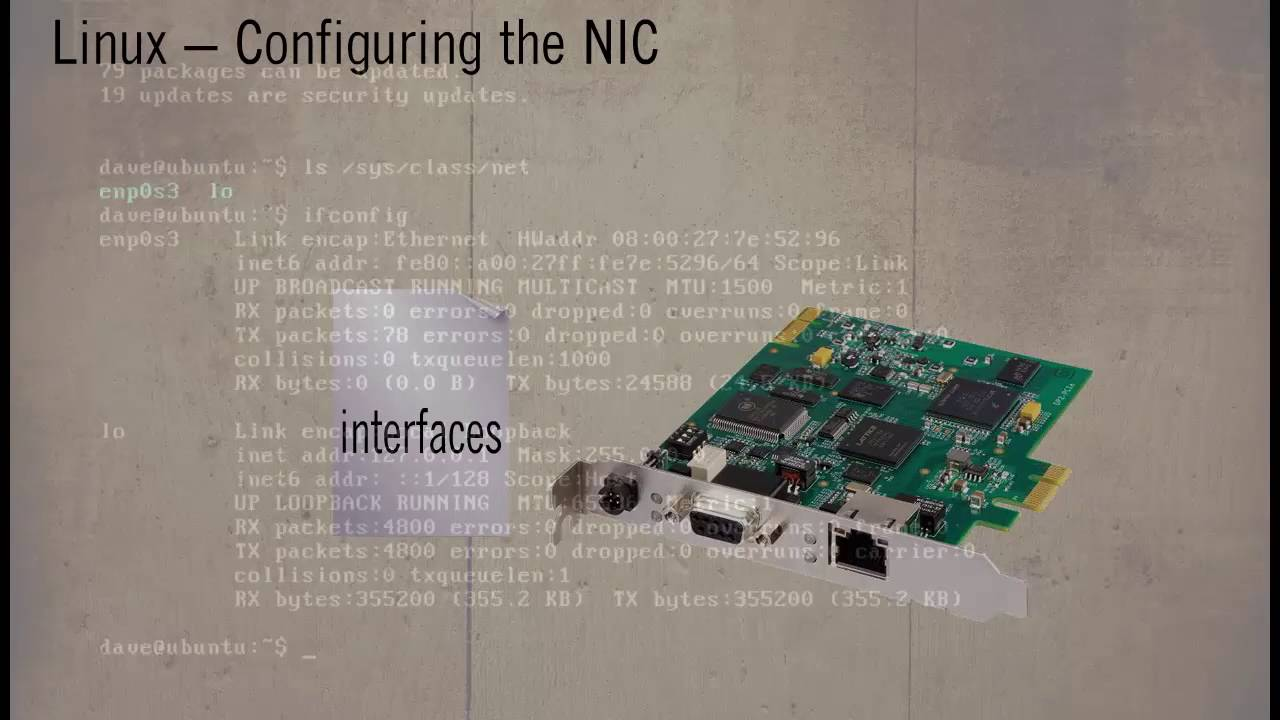 Linux configuring the NIC