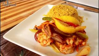 Oven Baked Pepper Shrimp Serve With Rice | Recipes By Chef Ricardo