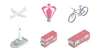 Animated Isometric icons By NishanthKunder | After Effects | HD