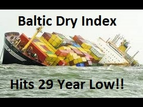 The Baltic Dry Index Is Collapsing!!!