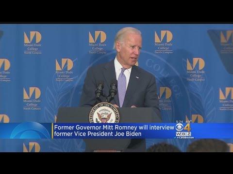 Mitt Romney To Interview Joe Biden