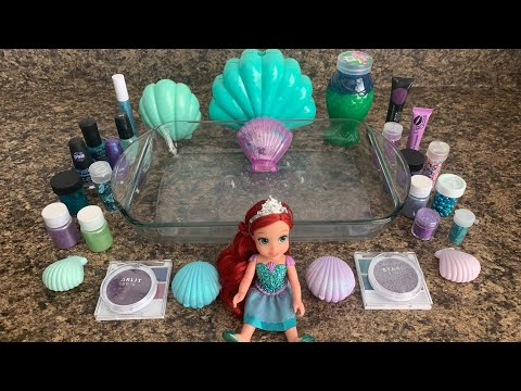 THEME SERIES'' MERMAID''(MIXING MAKEUP GLITTER INTO CLEAR SLIME