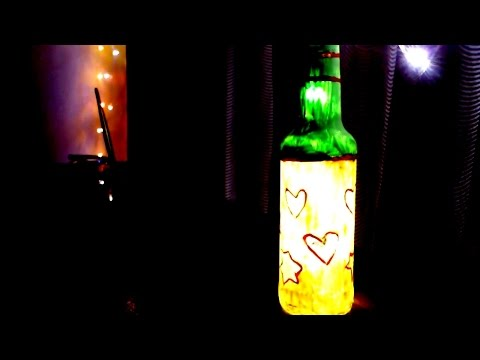 DIY Glass Bottle Lamp | Creative Ideas For House Party
