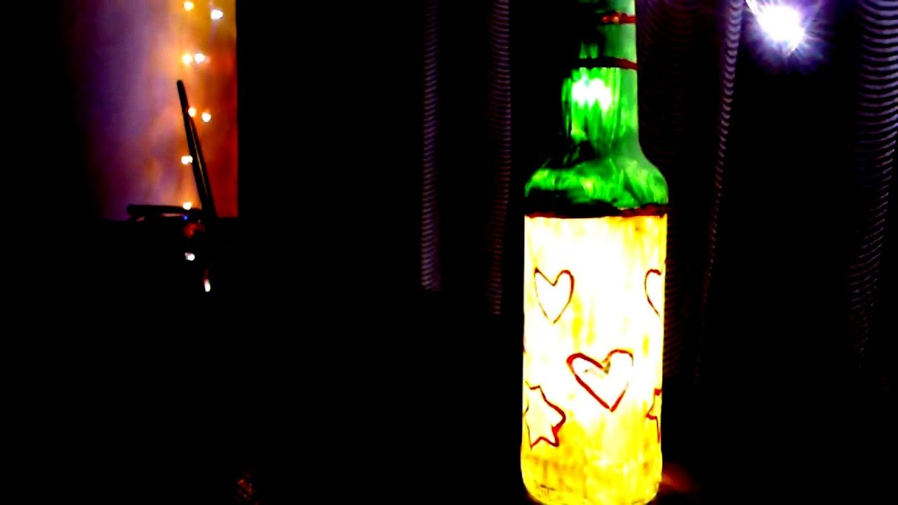 DIY Glass Bottle Lamp Creative