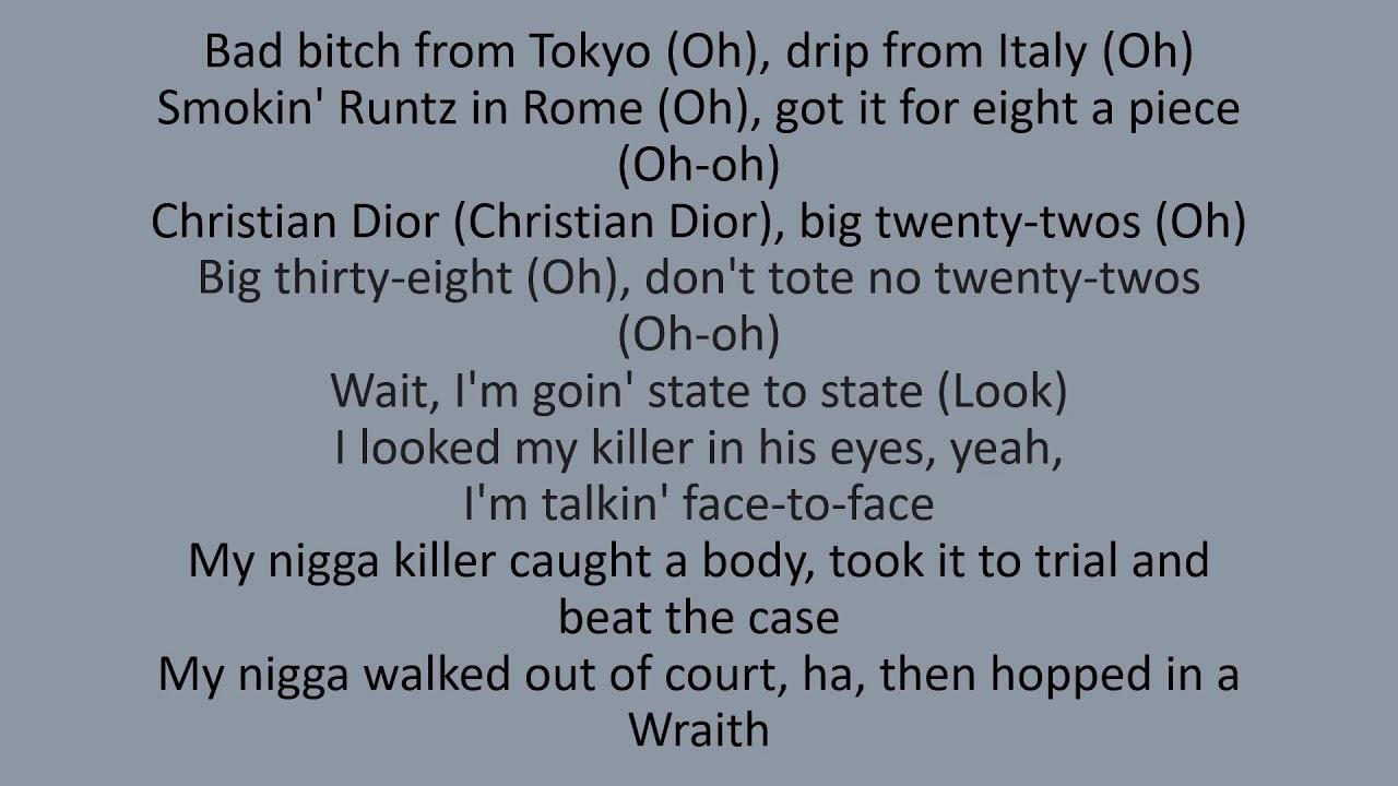 Pop Smoke - Bad bitch From Tokyo (lyrics)