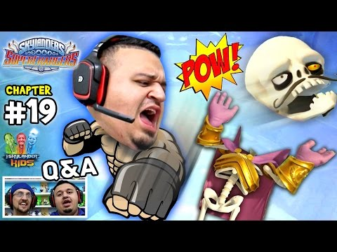 Lets Play SKYLANDERS SUPERCHARGERS Chapter 19: Uncle Crusher Crushes Count Money Bone w/ Q&A