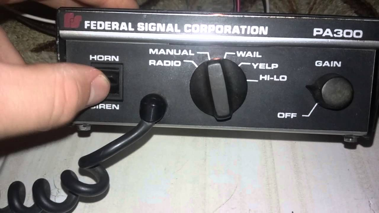 maxresdefault federal signal pa 300 siren demo of all tones youtube Basic Turn Signal Wiring Diagram at suagrazia.org
