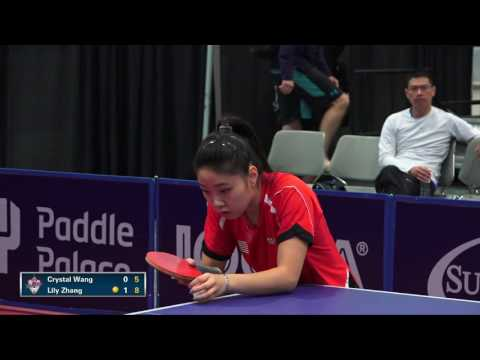 2016 US National Championships - Crystal Wang vs. Lily Zhang (Women's QF)