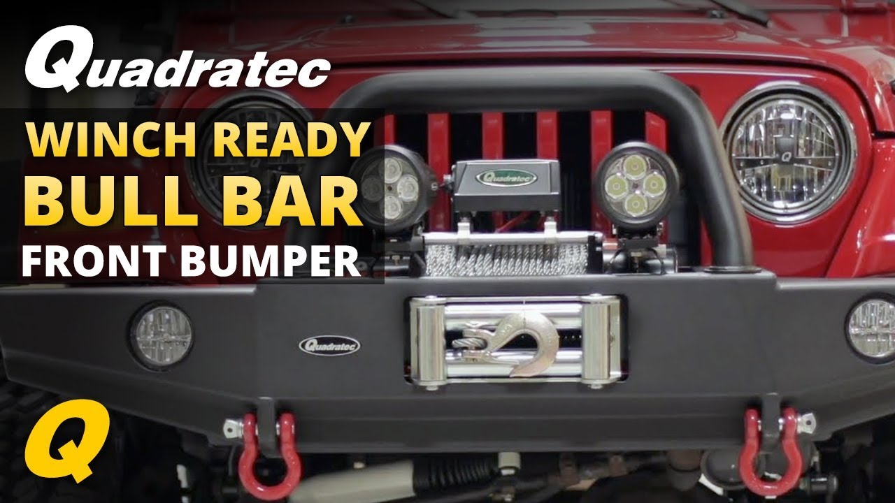 Quadratec Winch Ready Bull Bar Front Bumper for 97-06 Jeep Wrangler