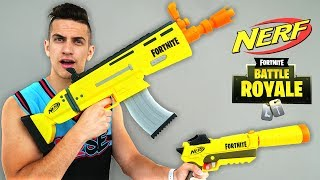 NERF FORTNITE SCAR BLASTERS IN REAL LIFE!