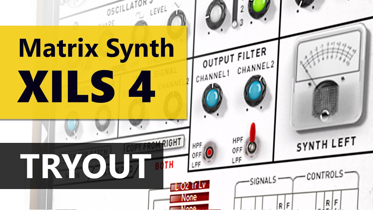 xils 4 analog matrix modular synthesizer tryout youtube. Black Bedroom Furniture Sets. Home Design Ideas