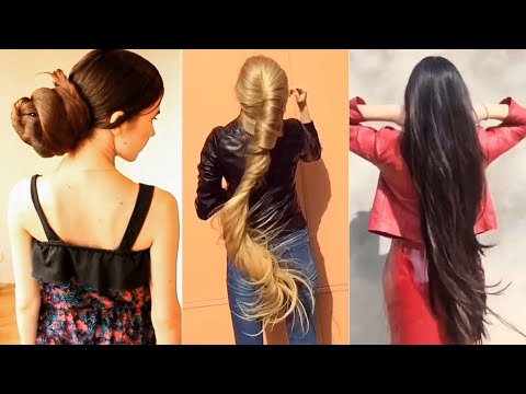 Bun Drop Compilation With 42 Most Beautiful Long Hair Girls (2018)