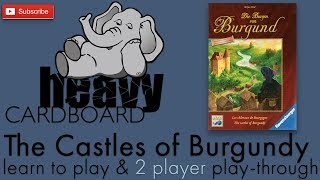 The Castles of Burgundy 2p Play-through, Teaching, & Roundtable discussion by Heavy Cardboard