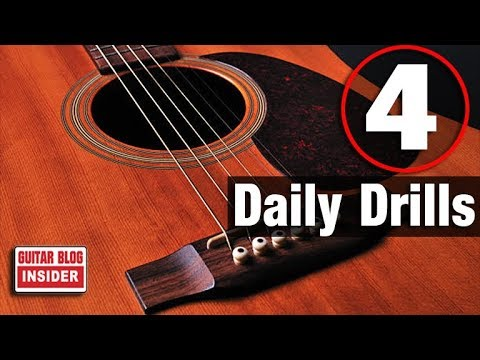 4 Guitar Drills You Should Do Each Day