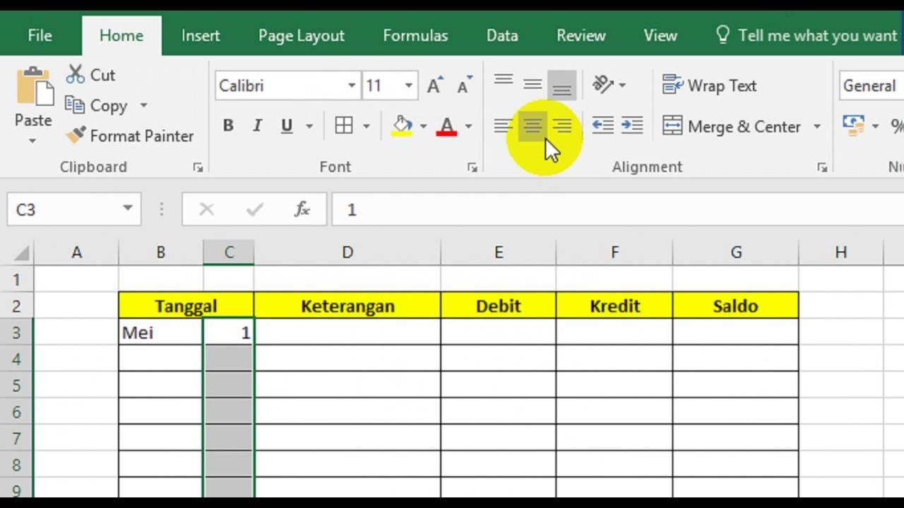 Membuat Laporan Keuangan Sederhana Dg Excel Youtube