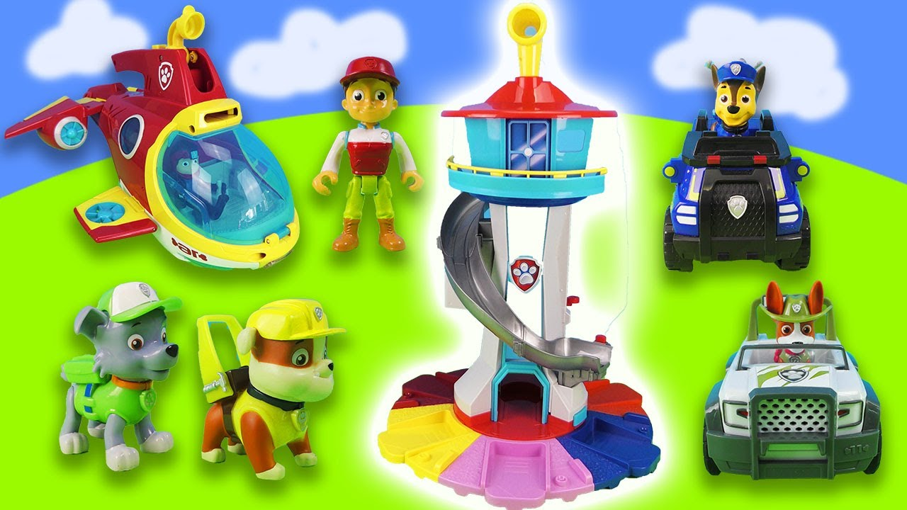 Rocky and Rubble explore the new Tower of the Paw Patrol! New exciting Rescue Missions!